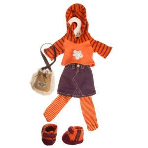 Vestito maglia a righe e gonna lunga My Doll
