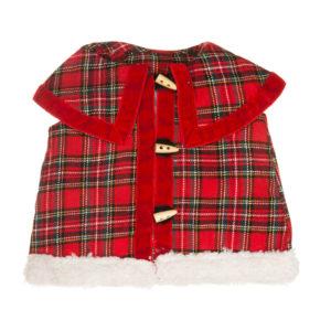 Cappotto in tessuto tartan rosso