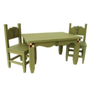 Tavolo e due sedie verdi medio My Doll