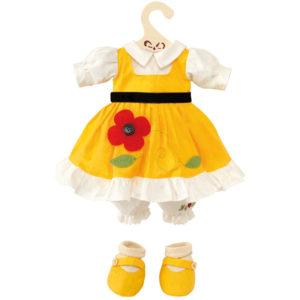 Vestito color giallo con fiore