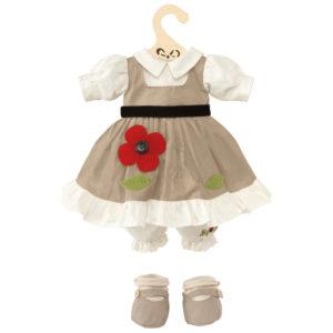 Vestito color tortora con fiore My Doll