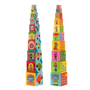 10 cubi con veicoli ed animali – Cubes Véhicules
