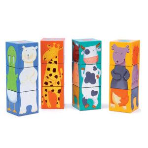 12 cubi con animali
