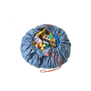 Sacco Portagiochi e tappeto gioco 2 in 1  - Jeans Play&Go