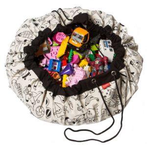 Sacco Portagiochi e tappeto gioco 2 in 1  Play&Go - Color your bag Omy