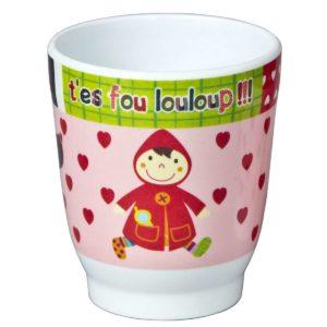 Bicchiere Cappuccetto Rosso – Linea Louloup Ebulobo