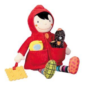 Chaperon d'activité – Bambola Cappuccetto Rosso gioco d'attività Ebulobo