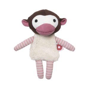 Franck&Fischer pupazzino doudou Trisse la scimmietta rosa Franck&FIcher
