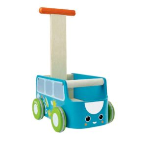 PlanToys pulmino giallo primi passi - Van Walker - Blue