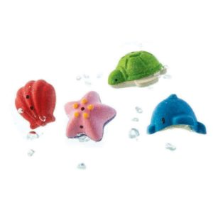animali per il bagnetto in legno- Sea life bath set PlanToys