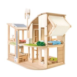 casa Green Dollhouse arredata PlanToys