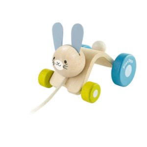 coniglietto scodinzolante da tirare – Hopping Rabbit PlanToys