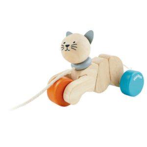 gatto da tirare – Pull-Along Cat PlanToys