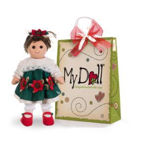 Confezione regalo My Doll con bambola delle feste da 42cm