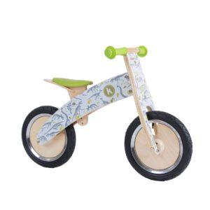 Bicicletta da Equilibrio in Legno Dinosauri Kurve KiddiMoto