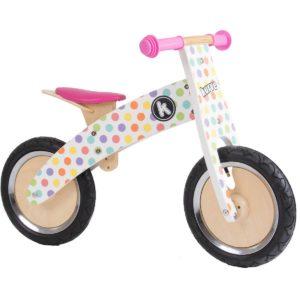 Bicicletta da Equilibrio in Legno Pois Kurve- KiddiMoto