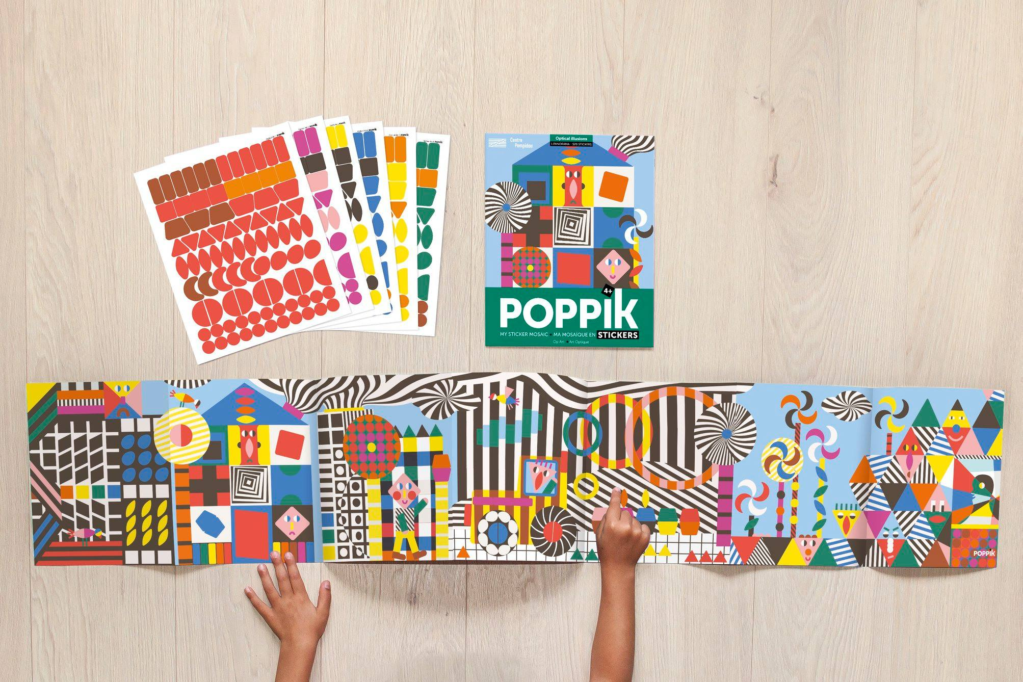 poppik stickers colorati per bambini