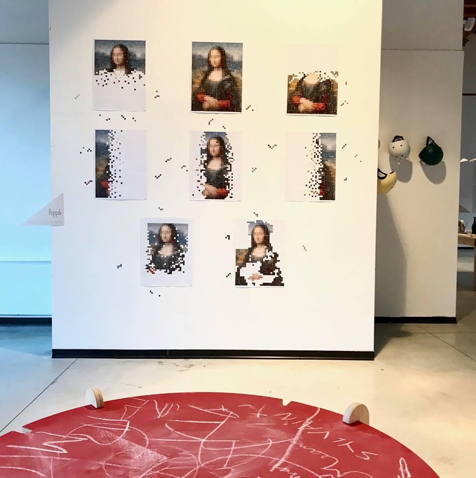 poppik stickers monna lisa fuorisalone 2019 bambini
