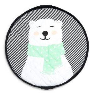 Sacco Portagiochi e Tappeto – Collezione Soft – Polar Bear Play&Go