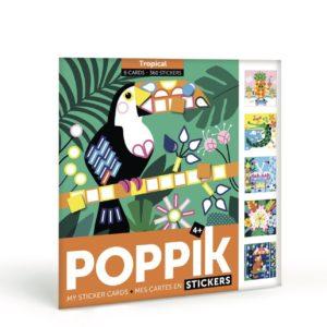 – Cartoline tascabili con adesivi – Tropical  – Cartoline tascabili con adesivi – Tropical