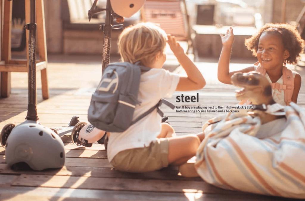 colore steel zaino scoot&Ride